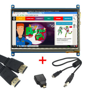 7 Inch Hdmi Lcd Display Touch Screen 800x480 For Raspberry Pi 2b 3b 3b