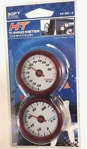 Jdm Red Tuning Dash Combo Meter Gauges Thermometer Hygrometer G As2953