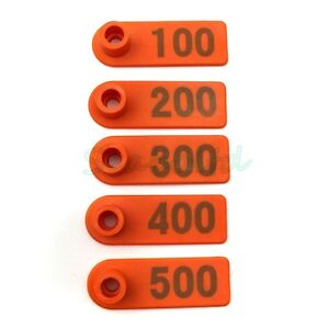 Ear Tag Plastic Livestock Tag For Goat Sheep Pig Cow Number 1 500