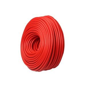 Red 3 16 5mm Vacuum Silicone Hose Intercooler Coupler Pipe Turbo 50 Feet