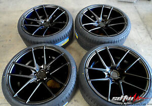 18 Niche Targa M130 Concave Black Wheels W Tires Fits Ford Lincoln Jaguar