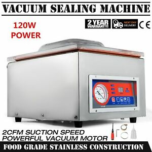 120w 22 Commercial Vacuum Sealer Food Sealing Machine Bar Hydraulic 110v