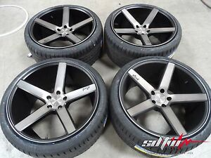 19 Staggered Niche M134 Milan Wheels W Tires Black Machined Ddt Finish 5x100
