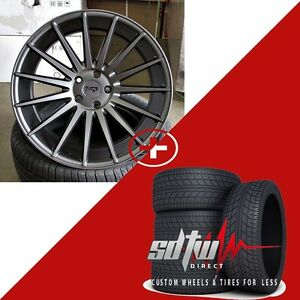 20 Niche Form M157 Concave Anthracite Ddt Wheels W Tires Fits Accord Tsx Altima