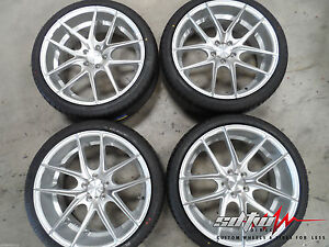 20 Niche Targa M131 Concave Silver Wheels W Tires Fits Accord Tsx Rsx Is Es