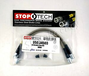 Stoptech Stainless Steel Braided Rear Brake Lines For 96 03 Bmw 5 Series Incl M5