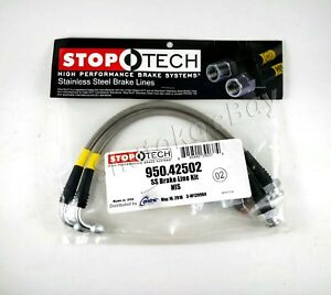 Stoptech Stainless Steel Braided Rear Brake Lines For 07 08 Infiniti G35 Sport