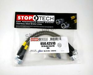 Stoptech Ss Braided Rear Brake Lines For 89 98 Nissan 240sx W 300zx Calipers