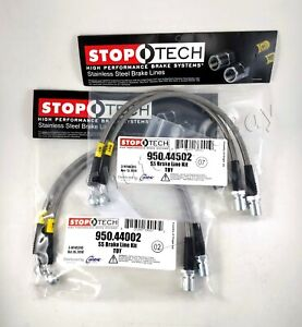 Stoptech Stainless Steel Braided Front Rear Brake Lines For 01 06 Lexus Ls430