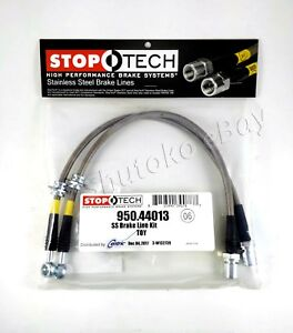 Stoptech Stainless Steel Ss Braided Front Brake Lines For 91 95 Toyota Mr2 Sw20