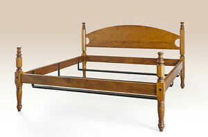 Queen Size Cottage Style Bed Frame Antique Reproduction Furniture Handcrafted
