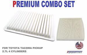 Combo Set Air Filter Cabin Air Filter For 2005 2017 Toyota Tacoma 2 7l