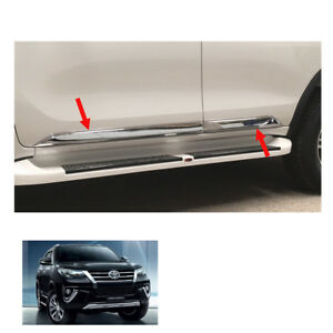 Fits Toyota Fortuner Crusade 2015 2017 Body Cladding Side Molding Guard Chrome