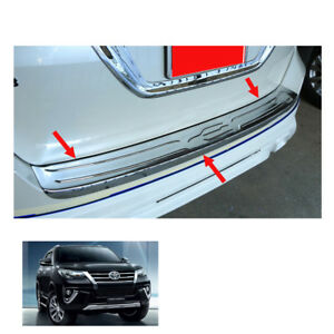 Fits Toyota Fortuner Crusade 2015 2017 Rear Tailgate Bumper Step Cover Chrome