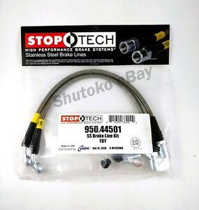 Stoptech Stainless Steel Ss Rear Brake Lines For 98 05 Lexus Gs300 Gs400 Gs430