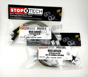 Stoptech Stainless Steel Front Rear Brake Lines For 05 15 Toyota Tacoma 6 Lug
