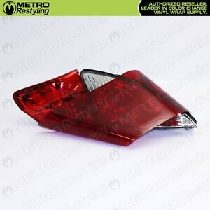 Premium Red Smoke Out Film Tint Head Light Tail Light Vinyl Wrap Sticker