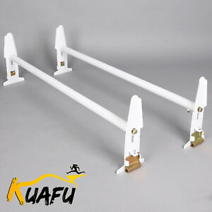 Adjustable Van Roof Ladder Rack Two Bar For Chevy Dodge Ford Gmc Express 77