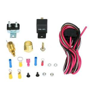Car Electric Cooling Fan Wiring 170 185 Degree Thermostat Install Kit Us E0s6