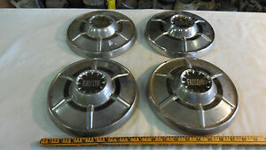 1964 65 Ford Falcon Set Of 4 Dog Dish Hubcaps