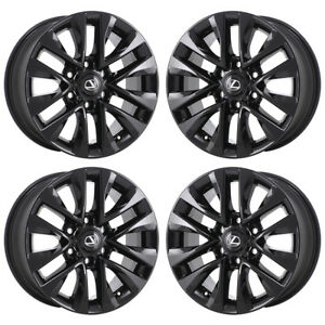18 Lexus Gx460 Black Wheels Rim Factory Oem 2015 2016 2017 Set 4 74297 Exchange