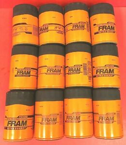 New Lot Of 12 Fram Ph3600 Engine Oil Filter