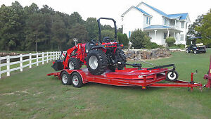 Tym 354 Or 394 Hst With Loader Cutter Blade And 20 Foot Trailer