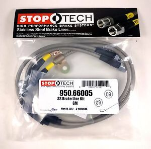 Stoptech Stainless Front Brake Lines For 07 10 Chevrolet Silverado 2500 3500