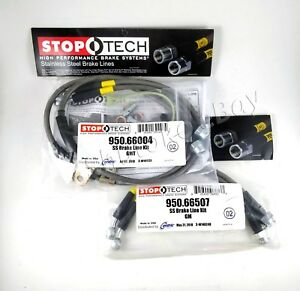 Stoptech Stainless Steel Braided Front Rear Brake Lines For 03 07 Hummer H2