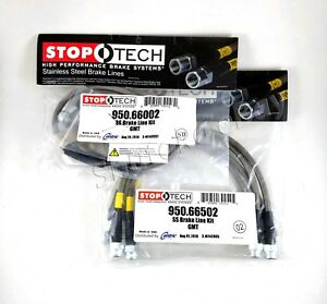 Stoptech Stainless Steel Front Rear Brake Lines For 07 14 Cadillac Escalade