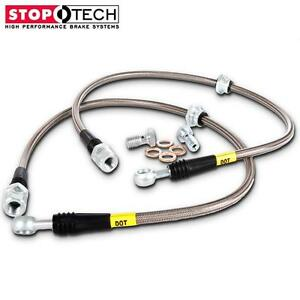 Stoptech Stainless Steel Braided Rear Brake Lines For 92 00 Dodge Viper