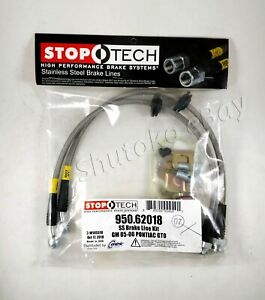 Stoptech Stainless Steel Braided Front Brake Lines For 05 06 Pontiac Gto All