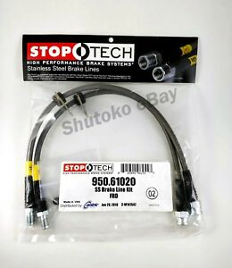 Stoptech Stainless Steel Braided Front Brake Lines For 12 17 Ford Focus Exc Rs