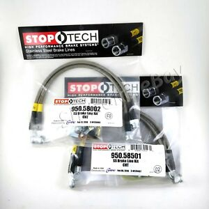 Stoptech Ss Braided Front Rear Brake Lines For 06 10 Jeep Grand Cherokee Srt8