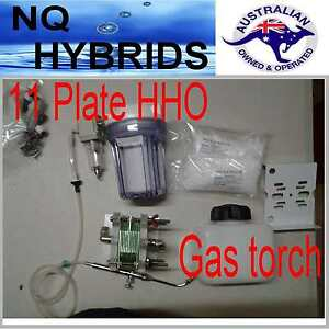 Hho Gas Torch Hydrogen 11 Plate Generator Powered Kit