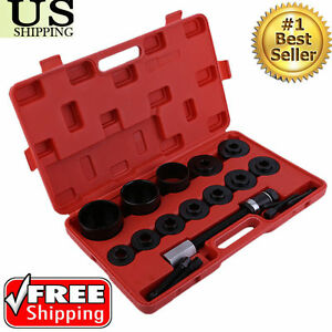 19pc Master Set Front Wheel Hub Drive Bearing Removal Install Service Tool Set P