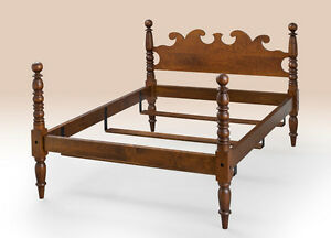 King Size Antique Style Cannonball Bed Made In Usa Cherry Wood Furniture New