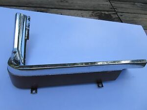 1964 1966oem Ford Thunderbird Dash Cluster Console Panel Trim Chrome Burgandy