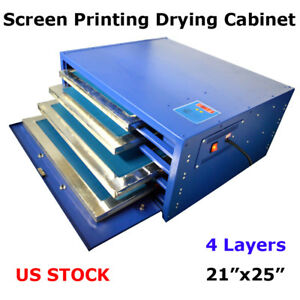 21 x 25 Silk Screen Printing Drying Cabinet curing Screen Frame Equipment