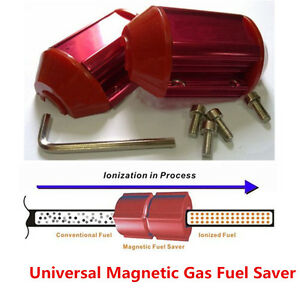 Universal Magnetic Gas Oil Fuel Saver Performance For Truck Car Red Economizer