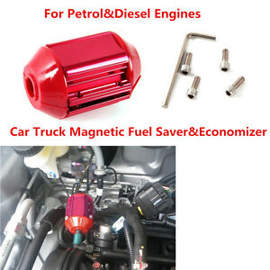 Universal Magnetic Gas Fuel Saver Universal For All Trucks Cars Red Casing