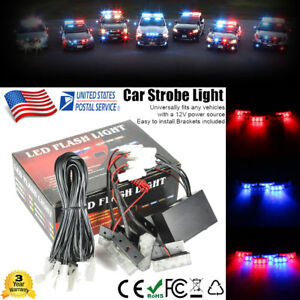18 Led Car Dash Strobe Flash Light Emergency Police Warning 3 Mode Red