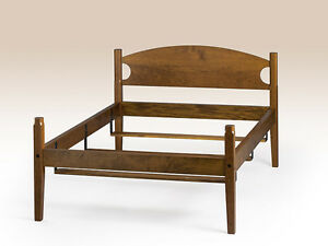 King Size Shaker Bed Frame Cherry Wood Quality American Made Furniture Bedroom