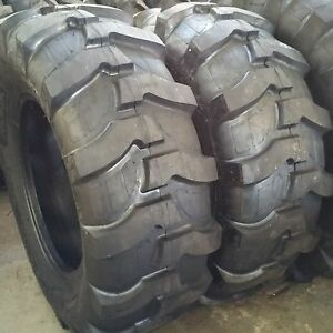 2 tires Rw 21l 24 12ply R4 Rear Backhoe Industrial Tractor Tires 21lx24 21 l24