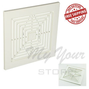 Bathroom Fan Grille Cover White Bath Exhaust Ceiling Broan Replacement Grill New