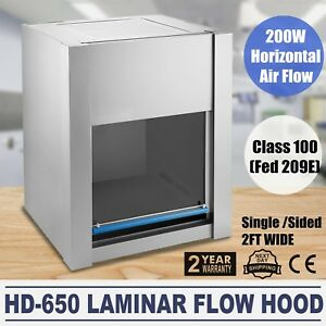 Hd 650 Ventilation Laminar Flow Hood Air Flow Clean Bench Workstation Ship