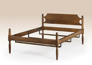 Queen Bed Frame Made In Usa Quality Home Furniture Cherry Wood Cannonball Style