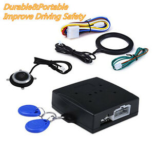 Car Engine Ignition Push Start Button Remote Rfid Lock Keyless Entry System Kit