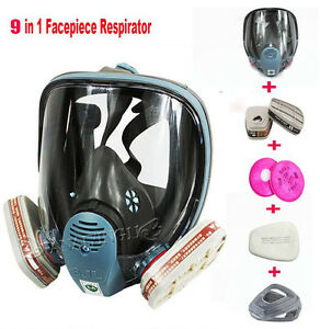 6800 Painting Spraying For 9 In1 Full Face Suit Gas Mask Facepiece Respirator Hb