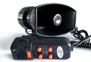 Motorcycle Car Auto 12v Loud Siren Horn Max For With 5 Sound Tone Ot001